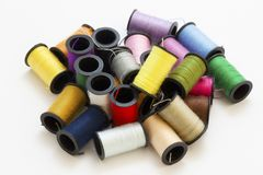 Assorted sewing thread Stock Photo
