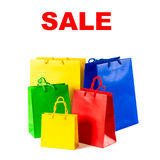 Assorted shopping bags on white background Royalty Free Stock Photo
