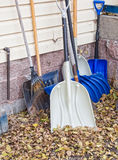 Assorted shovels Stock Image
