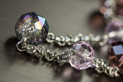 Assorted silver costume jewellery Royalty Free Stock Photos