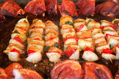 Assorted skewers Royalty Free Stock Photo