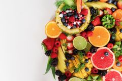 Assorted Sliced Fruits royalty free stock images