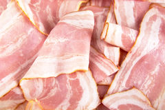 Assorted slices of fat pink bacon Royalty Free Stock Photos