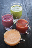 Assorted smoothies Royalty Free Stock Images