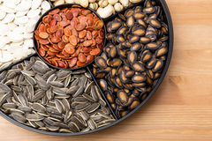 Assorted Snack tray for Lunar new year Royalty Free Stock Photo