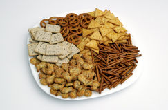 Assorted snacks. On a plate Stock Images