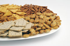Assorted snacks Stock Images