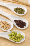 Assorted soy beans. Royalty Free Stock Image