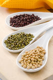 Assorted soy beans Royalty Free Stock Photo