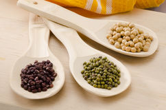 Assorted soy beans Royalty Free Stock Photography