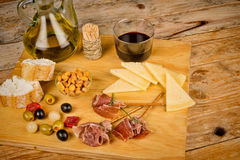 Assorted Spanish appetizers Stock Photography