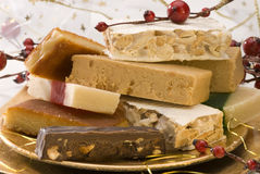 Assorted spanish nougat Royalty Free Stock Photography
