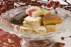 Assorted spanish nougat Stock Photos