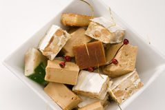 Assorted spanish nougat Stock Photography