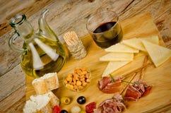 Assorted Spanish snacks Stock Photo