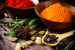 Assorted spices Royalty Free Stock Photography