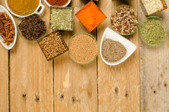 Assorted spices background Stock Images