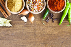 Assorted spices in bowl Stock Photography