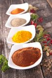 Assorted spices and herbs Stock Photography