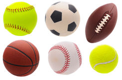 Assorted Sports Balls royalty free stock image