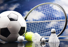 Assorted sports equipment Royalty Free Stock Image