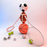 Assorted sports equipment Stock Photo