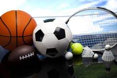 Assorted sports equipment Stock Photos