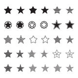Assorted stars icons vector set. Stock Image