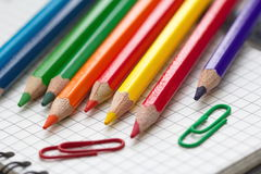 Assorted Stationery Items Royalty Free Stock Photography