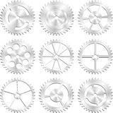 Assorted Steel Gears Royalty Free Stock Photo