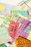 Assorted stubs Royalty Free Stock Images