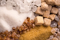 Assorted sugar Stock Photos