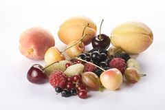 Assorted summer berries and apricots Stock Photography