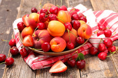 Assorted summer fruits Stock Photo