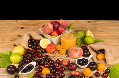 Assorted summer fuit still life Stock Image