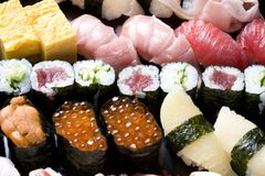 Assorted sushi Royalty Free Stock Image