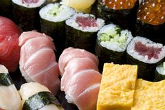 Assorted sushi Royalty Free Stock Photography