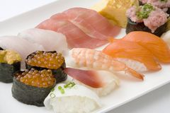 Assorted sushi Stock Image