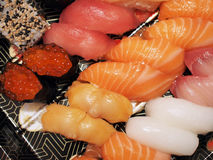 Assorted sushi Stock Photos