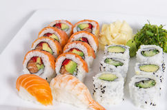 Assorted sushi dish Stock Photo