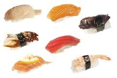Assorted sushi isolated Royalty Free Stock Photo