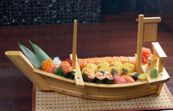 Assorted sushi Japanese food Stock Photos