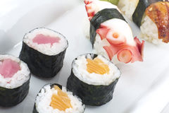 Assorted Sushi Platter Stock Image