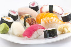 Assorted Sushi Platter Royalty Free Stock Photography