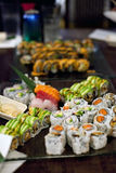 Assorted Sushi Rolls Royalty Free Stock Photography