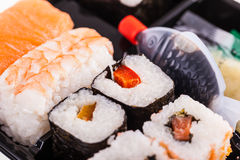 Assorted sushi rolls Stock Images