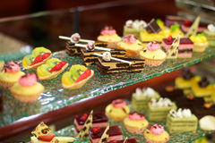 Assorted sweet desserts at buffet Royalty Free Stock Photography