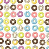 Bright sweet donuts Stock Photography