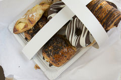 Assorted sweet pastry tray Royalty Free Stock Images