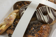 Assorted sweet pastry tray Stock Photo